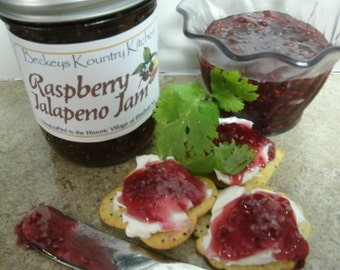 Raspberry Jalapeno jam Beckeys Kountry Kitchen jam jelly preseves fruit spreads