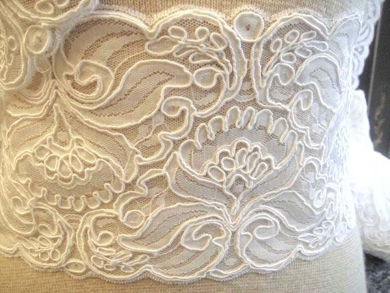 Alencon Bridal lace trim-1-012