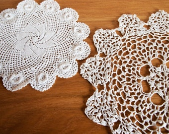 Collection of Seven Linen and Lace Doilies