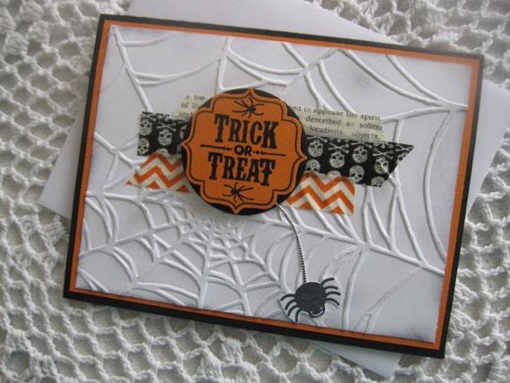 stampin up handmade greeting card halloween