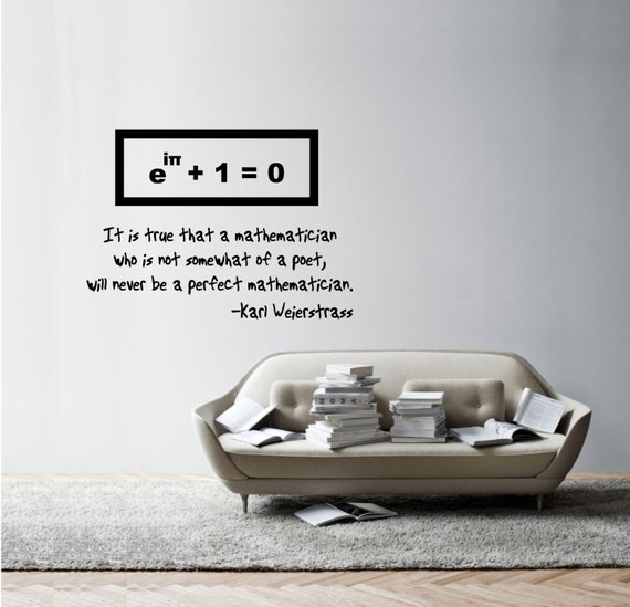 Science Art  Simple Equations Weierstrass Quote On - Somewhat about wall stickers