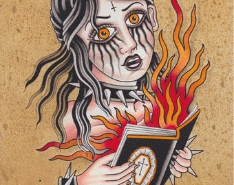 Book Burner - Ashley Riot print