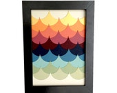Layered Paper Collage - Framed Art