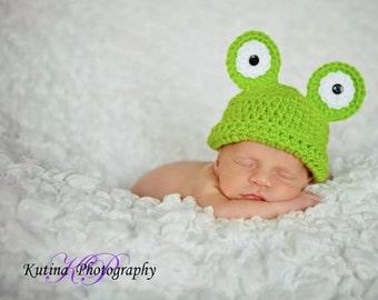 Frog Beanie Pattern, Frog Costume Pattern, Beanie Crochet Pattern, Crochet Beanie Pattern