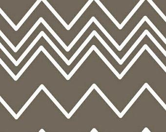 LAST 1/2 YARD - Ziggy  -  Zig Zag Grey White - 1/2 Yard Chevron  -  by French Bull Jackie Shapiro  - Windham Fabrics - 36536-2