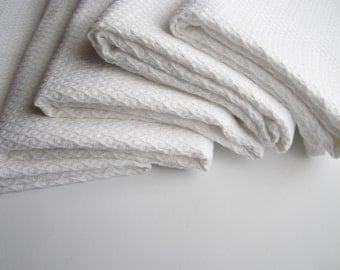 White linen waffle towel with cotton, Waffle weave towel, Bath towel, Linen bath sheet, Natural organic linen towel