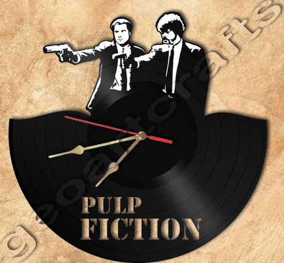 Wall Clock Pulp Fiction Theme Vinyl Record Clock By