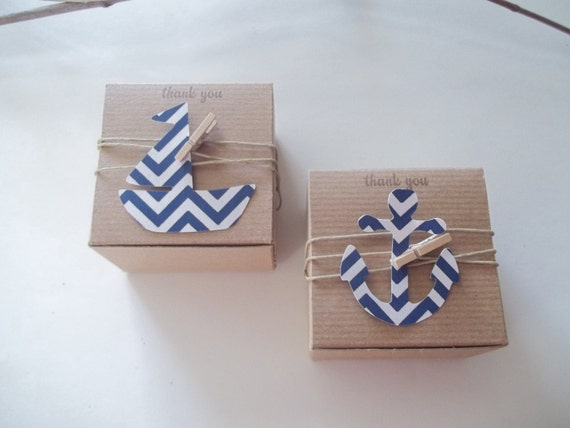 40 nautical baby shower anchor favor box birthday favor any special