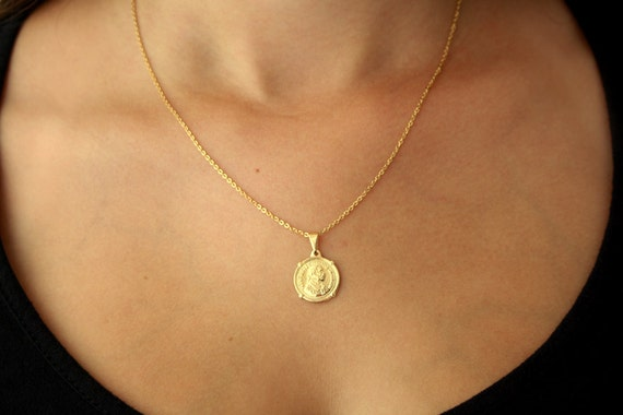 Gold pendant gold coin coin jewelry coin pendant gold