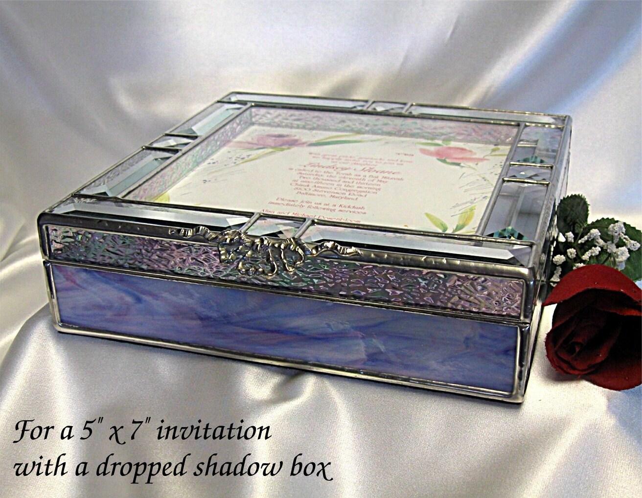 Gift Box Wedding Invitations: Invitation 5x7 Keepsake Gift Box In Stained Glass