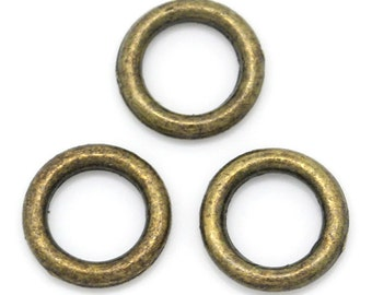 bronze closed jump rings earring bracelet necklace jewelry finding 6 mm jewelry finding supply earring DIY