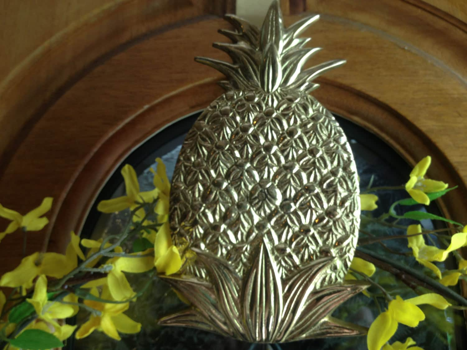 Brass Pineapple Wreath Hanger Free Shipping
