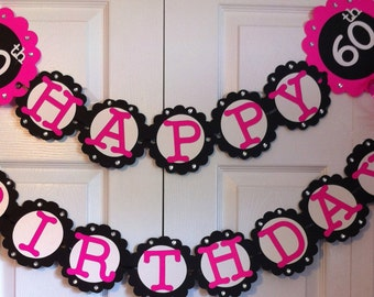 60th Birthday Party Decorations Personalization Available with ...