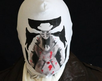 Rorschach mask moving inkblots bloodsplatter Before Watchmen inspired pattern
