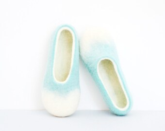 Felted slippers, women slippers, wool shoes, wool slippers, home shoes