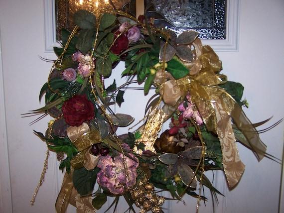 Items similar to off elegant christmas burgundy and