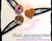 Girls Hair accessories mini sweets ,  hair clip by curiousgigi - CuriousGigi