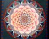 The Dawn Mandala Painting, Handmade Fine Art Signed Print, Living Room Decoration, Wall Art Decor, Unique Mandala Print,