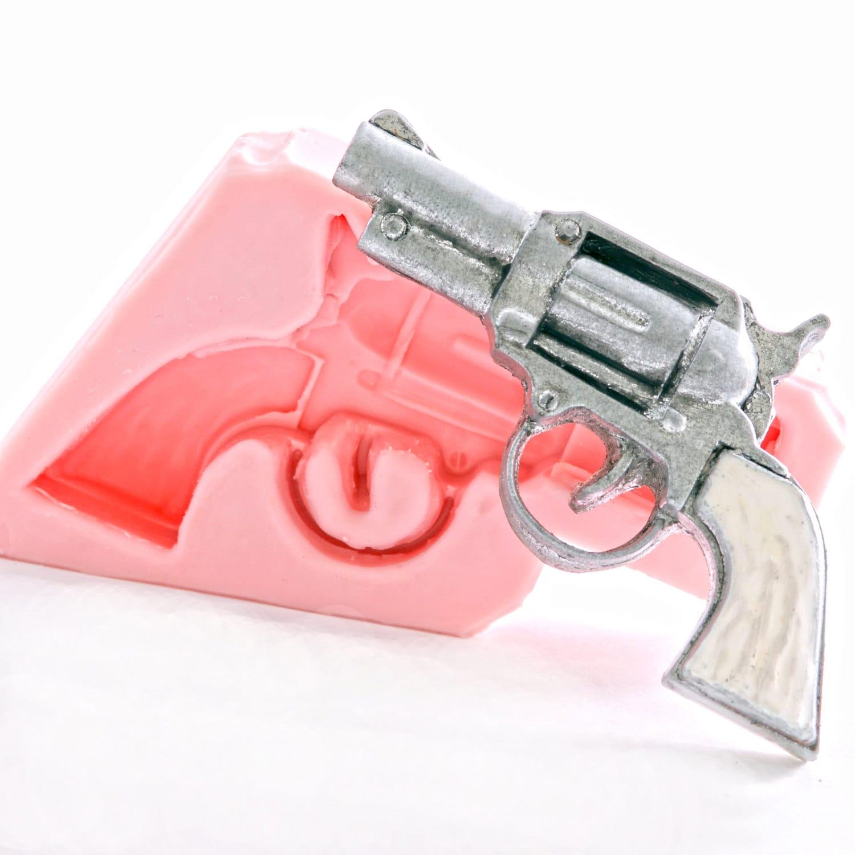 Pistol Mold Wild west gun mold Pistol soap mold Gun wax