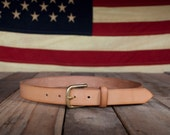 Leather Belt - Solid Brass Buckle - Handcrafted in the U.S.A.