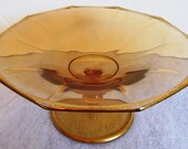 VALENTINESALE Classic Gold Glass Small Compote Trimmed In Gold Leaf