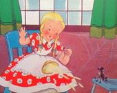 1945 MISS MUFFETT by Dorothy MAYS print ideal for framing