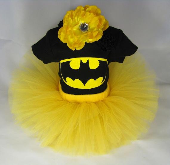 Batman Tutu Baby Girls Outfit Bodysuit Matching