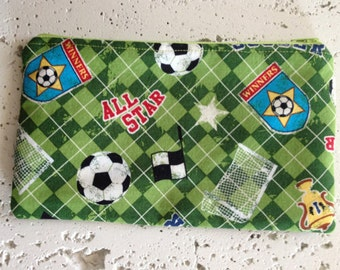 Soccer Fabric Gadget Pouch