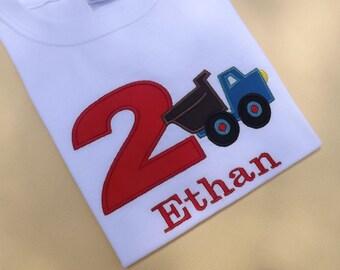 Dump Truck Birthday T-shirts and Bodysuits