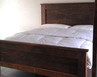BARN WOOD BED king