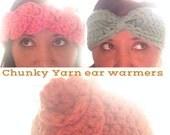 Chunky yarn ear warmers