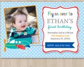 Airplane Birthday Invitation - DIY Custom Printable