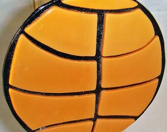 A Fused Glass Basketball Suncatcher