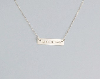 Sterling Joy bar Necklace