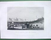 INDIA View of Calcutta Esplanade - 1859 Antique Print Vintage
