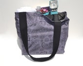 Night Shade Raven Lace Print Tote