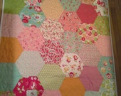 Scrumptious Hexies by Bonnie and Camille for Moda - Perfect Feminine Crib, Toddler, Play Mat or Lap Quilt in Soft Pastels