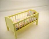 Wood Doll Bed,Baby Doll Crib, 18 inch Doll Crib, Doll Furniture, Doll Bed, American Doll Crib, Girls Toy, Doll Wood Furniture