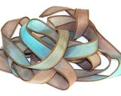 Sassy Silks Hand Painted/Dyed Ribbons Tidal Wave