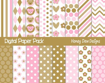Instant Download - Digital Paper Pack 286 - Patterned Paper