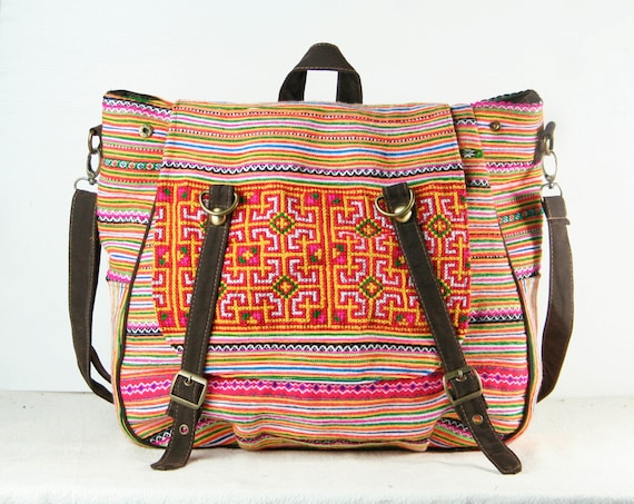 tribal messenger diaper bag backpack ethnic shoulder bag. Black Bedroom Furniture Sets. Home Design Ideas