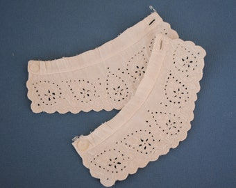 Child's white eyelet cuffs, supplies for sewing project