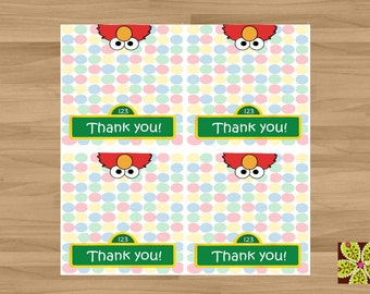 INSTANT DOWNLOAD - Sesame Street Elmo's World Treat Toppers/Party Favors - 4 Topper Set