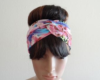Printed Head Wrap.Twist Headband