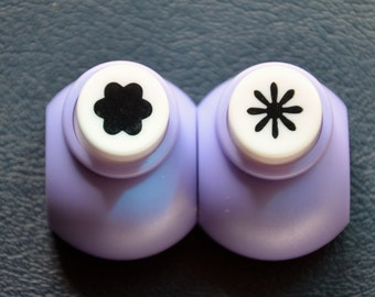 A Set of 2 Mini Paper Punches- Daisy & Plum Flower