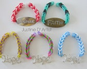 Fishtail Charm Rubberband Bracelets
