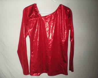 90s cyber red iridescent shirt