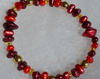 Berries and Gold Bracelet
