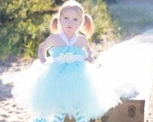Tiffany tutu dress with white hydrangeas