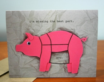 Missing You Card - Better than Bacon